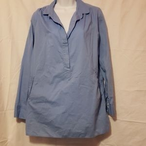 J Crew Blue Popover Tunic Medium